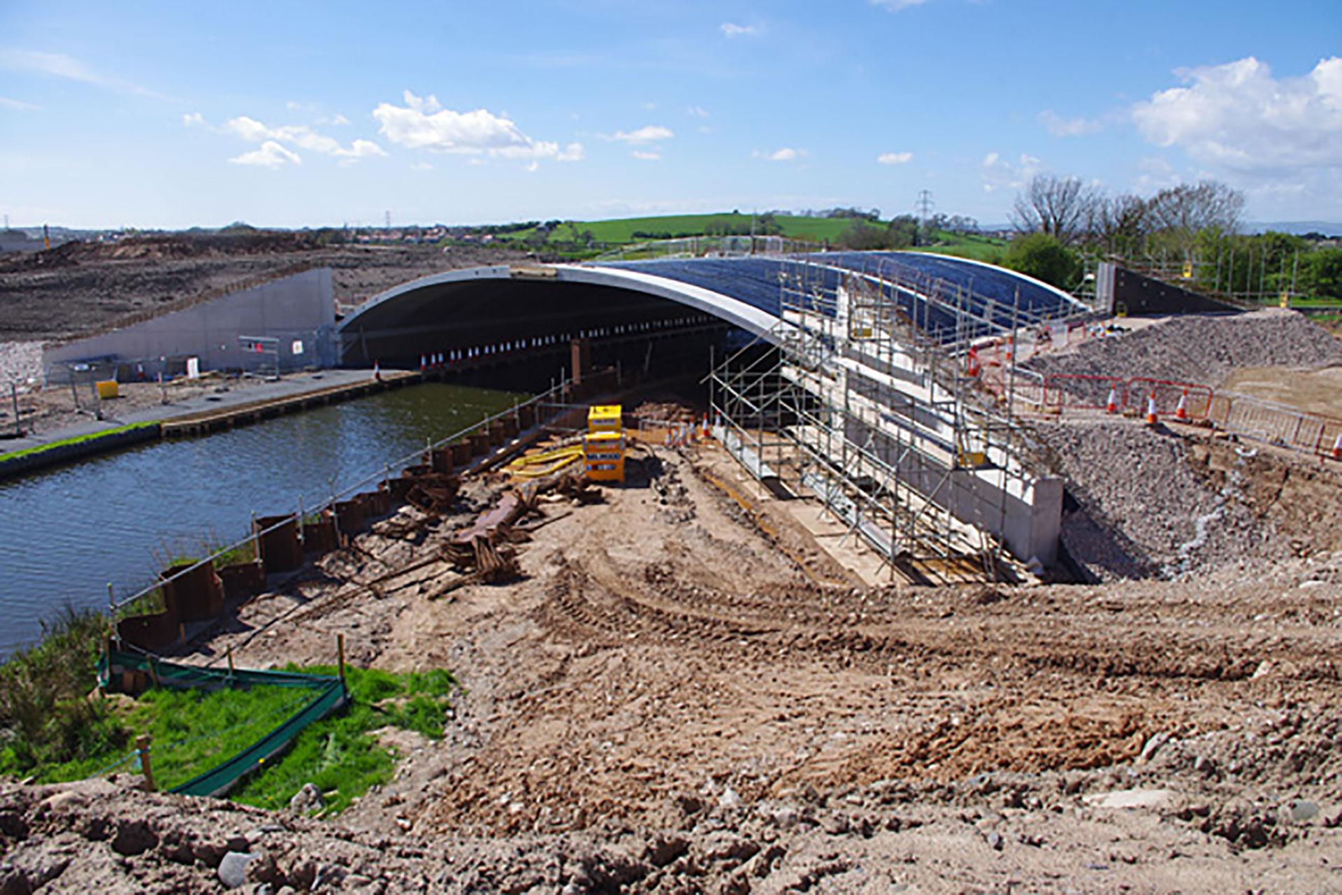 BEBO Arches Bridge Milestone Canal Heysham Bypass On Site Moore Concrete