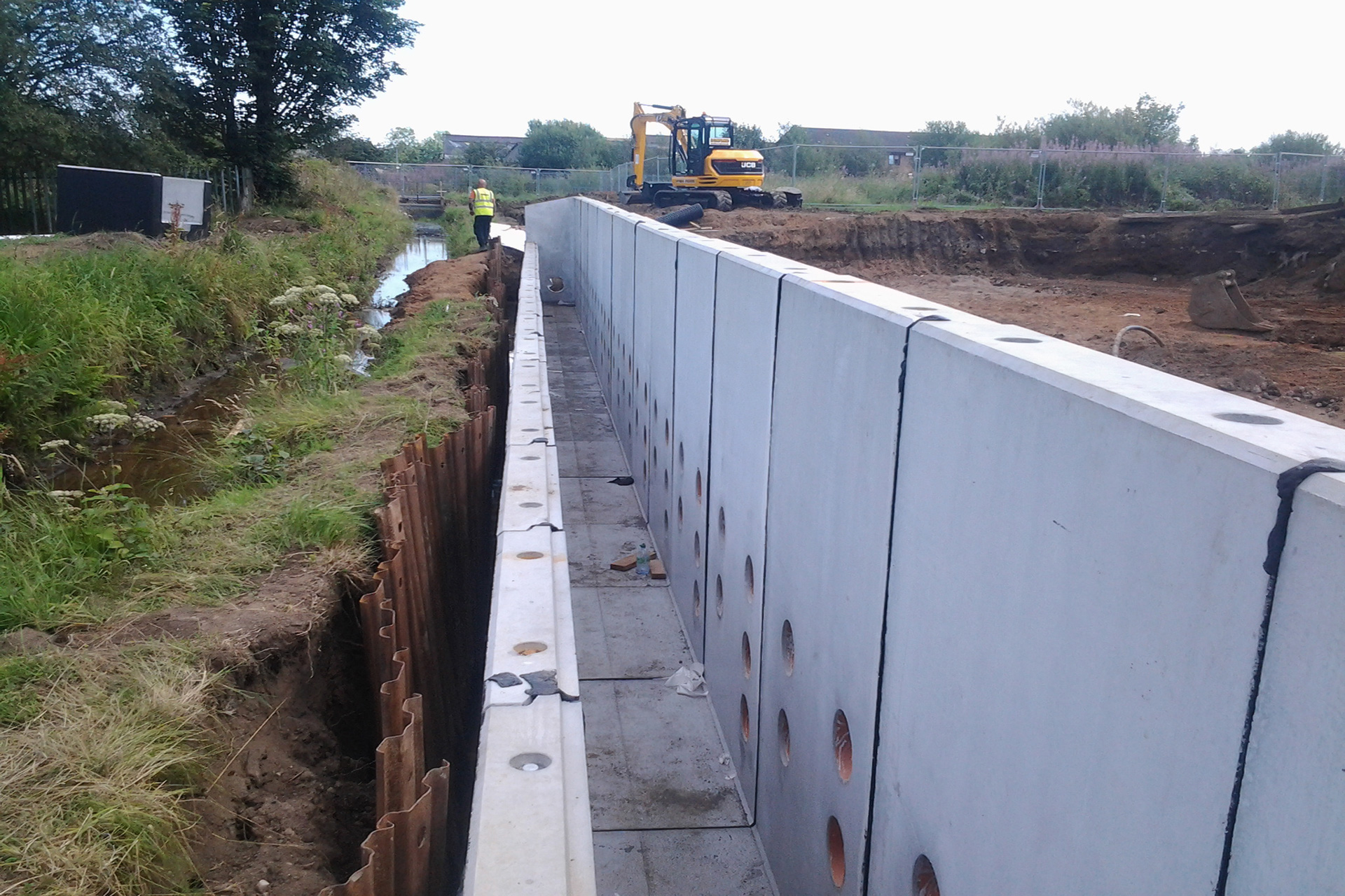 Ducts and Trenches Chapel Burn Larbert Box Culvert Installation Moore Concrete