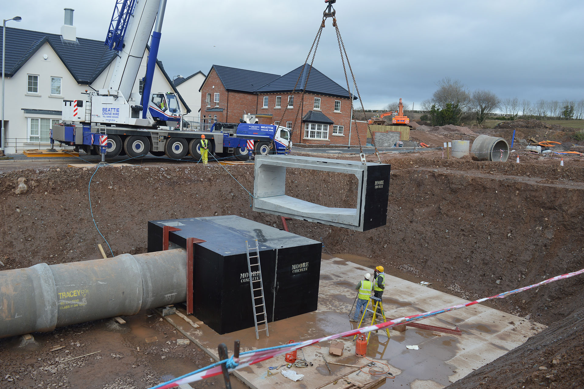Millmount Culverts Installation with Crane Moore Concrete 2